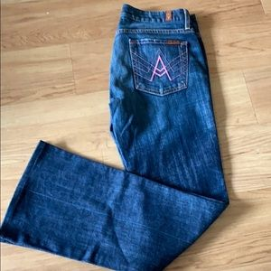 "7 for All Mankind ""A"" Pocket Flare Size 27"